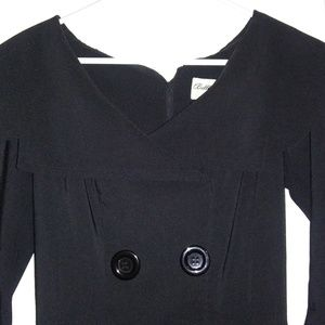Bettie Page Black Swing Dress Small